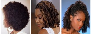 Different styles of Natural Afro hair